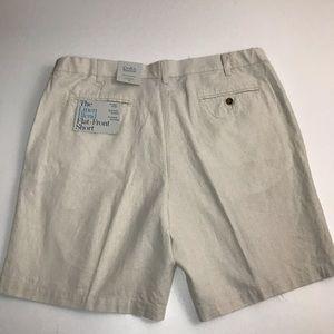 croft & barrow Shorts - Croft & Barrow Linen Flat Front Shorts. L4